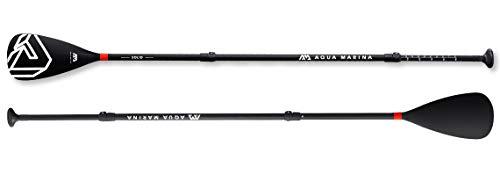 Aqua Marina Solid Adjustable Fiberglass iSUP Paddle, Black, 180-220 cm