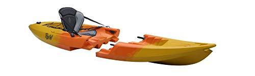 Point65 Tequila Solo GTX Sit on Top Kajak Kanu Modulbauweise Tolles Angelkajak, Ausstattung:Mit Airsitz, Farbe:Gelb-Orange-Marmoriert