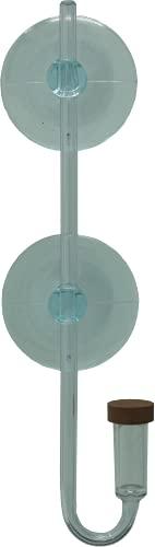 Akvado CO2 Diffusor 100 | CO2 Zerstäuber für Süßwasser-Aquarien bis 100 Liter, aus Acrylglas, mit Blasenzähler