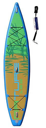 Stemax Nature 12'6 Touring SUP Standup Paddel Board aufblasbar inkl Coil-Leash, Stand up Paddle
