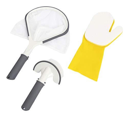 Bestway Lay-Z-Spa Basis-Reinigungsset All In One mit Bürste, Handschuh und Kescher