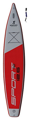 SUPwave Stemax Sport 12'6 SUP Standup Paddel Board aufblasbar inkl Coil-Leash, Stand up Paddle Race