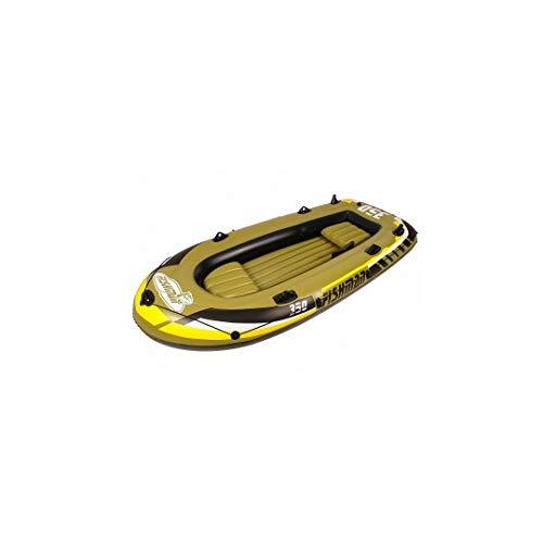 Jilong Fishman 350 Set 305x136x42 cm Angelboot mit Pumpe & Paddel für 3 + 1 Personen Ruderboot Paddelboot Schlauchboot Gummiboot mit 340kg Tragkraft, Süß- und Salzwasser geeignet