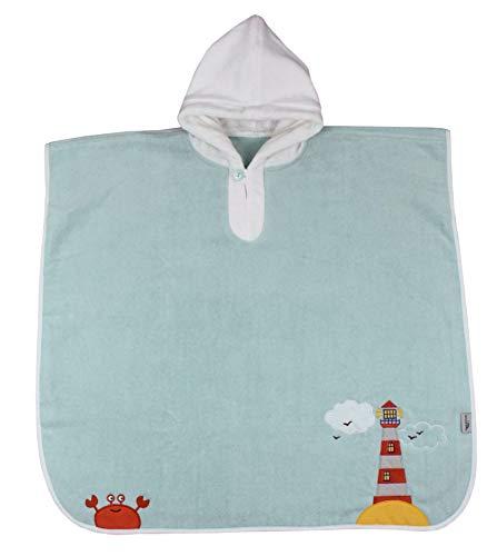 Schlummersack kuschelig weicher Badeponcho mit Kapuze - Leuchtturm- für Jungs von 4-8 Jahre