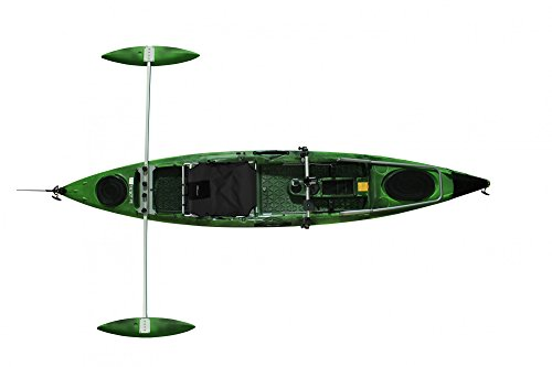 Tahe Marine Kajak Fit 132 SOT PE Deluxe Angler Sit on Top Kajak Angelkajak, Farbe:Camouflage, Ausstattung:Mit Steuer/Deluxe Seat/Angler
