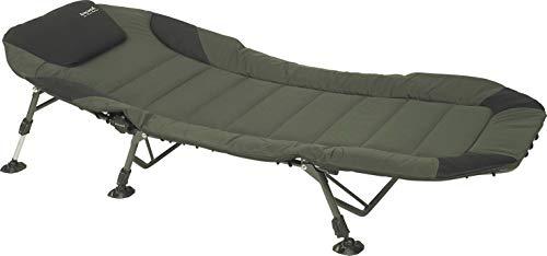 Sänger Top Tackle Systems Unisex– Erwachsene Anaconda Carp Bed Chair II (Karpfenliege/Campingliege), Grün, Liegefläche: 200 x 85cm, Fußhöhe verstellbar von: 30-50cm