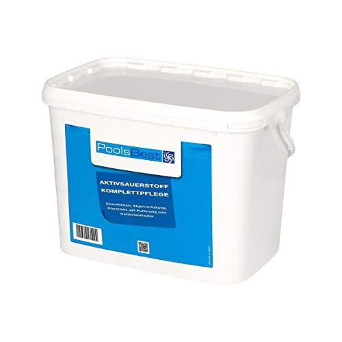 POOLSBEST 4,48 kg Aktivsauerstoff für Pool - 8 Doppelbeutel mit chlorfreien Granulat - Desinfektion ohne Chlor sorgt für geruchlose Wasserqualität