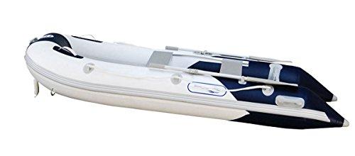 Prowake Schlauchboot AL300: 300cm lang mit Aluboden- ideal für 4 Personen - blau/Weiss