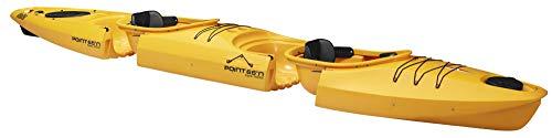 Point65 Martini Zweier GTX Tourenkajak Einerkajak Wanderkajak zerlegbares Kajak, Farbe:Gelb, Ausstattung:Mit Ruder und Airsitz