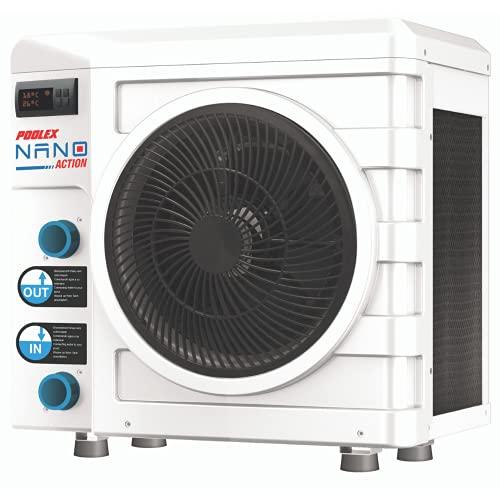 POOLEX 3kW Action 3 kW – PC-Nano-a3 – Wärmepumpe, für kleine Aufstellpools – Verbrauch: 600 W – Volumen des Beckens von 10 bis 21 m³, weiß