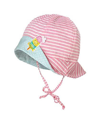 maximo Baby-Mädchen Hut Sonnenhut, Mehrfarbig (Mandelblüte-Weiß-Streifen 18), (Herstellergröße: 41)