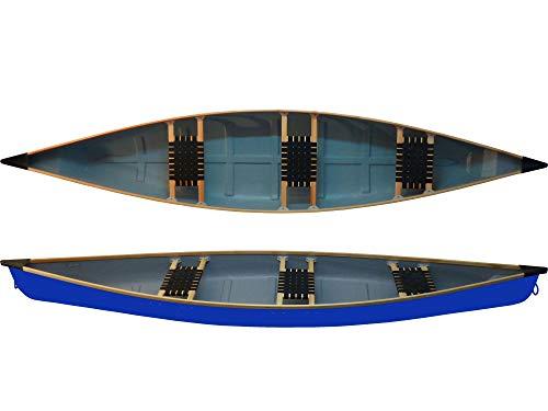 WIG Kayaks Familienkanu Ontario 3 - Sitzer Kanu Canadier leichtes Kanu zum Superpreis NEU, Farbe:Blau