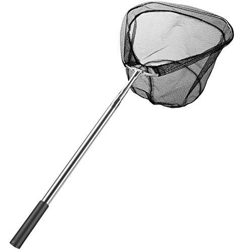 Homealexa Kescher Angeln, Teleskop-Kescher 180cm, Unterfangskescher Angelkescher mit Faltbare Fischernetz, Angelzubehör für Erwachsene und Kinder (Dreieck)