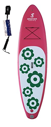 Stemax Allround 10'0 Flower SUP 2018 Standup Paddel Board aufblasbar inkl. SUPwave Coil-Leash, Stand up Paddle inflatable