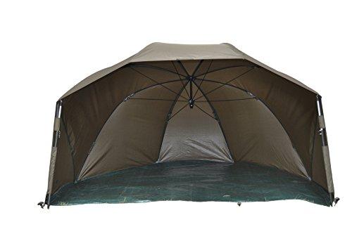 MK-Angelsport Fast Session, extra großes Brolly 1,52m x 2,47m x 1,45m (LxBxH), schnellaufbau Shelter 60 Zoll, wasserdichtes Zelt, 10.000mm Wassersäule, inkl. Zubehör