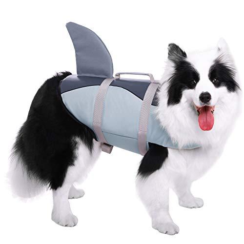 CITÉTOILE Hundeschwimmweste Mit Weichem Griff Rettungsweste Schwimmkörper für Haustierschwimmen Rafting Bootfahren Surfen Training Gewässern, XS-XL