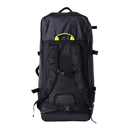 Aquamarina Unisex– Erwachsene Tasche Mit Rädern 90 L, Schwarz/Gelb, Uni