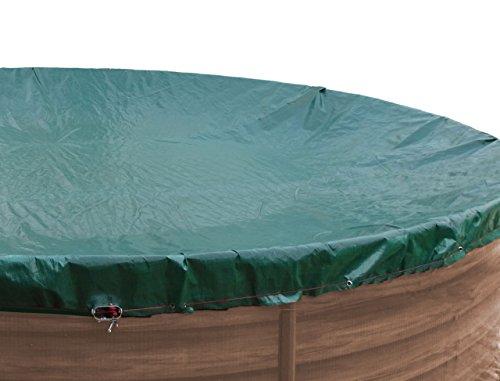 GRASEKAMP Qualität seit 1972 Abdeckplane für Pool rund 500cm Planenmaß 560cm Sommer Winter