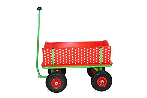 Beachtrekker Style Holzbollerwagen, Handwagen, Leiterwagen, Rotkäppchen