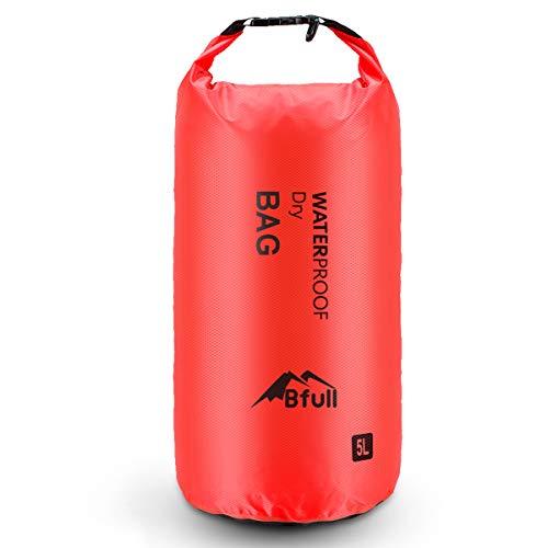 BFULL Dry Bag Wassertasche Packsack 5L/10L/20L/30L Ultra-Light Trockensack mit 2 Außentasche mit Reißverschluss Waterproof Sack mit Lang Verstellbarer Schultergurt für Boot und Kajak Wassersport