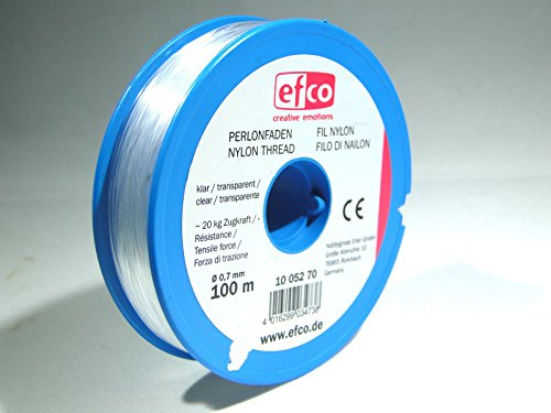 efco traction thread, polyamide, 20.0 kg, 0.7 mm diameter, 100 m, transparent