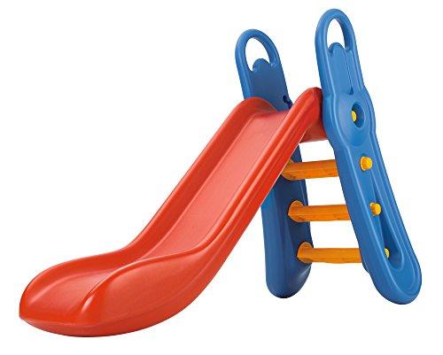 BIG - Fun-Slide - 152cm lange Rutschbahn, Nutzung für den Hausgebrauch, rot-blaue Rutsche für drinnen und draußen, für Kinder ab 3 Jahren