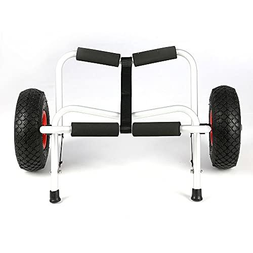 KingSaid Kajakwagen Bis Zu 100 Kg Faltbarer Spannriemen Aluminium Bootstrailer Kanuwagen Transportwagen Surfwagen