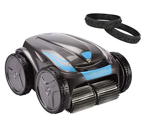 time4wellness Zodiac Vortex OV 5480 iQ Poolroboter mit Tansportwagen und Noppelreifen Set