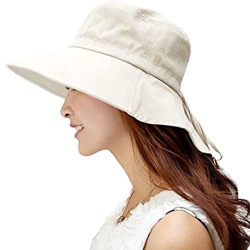 Comhats Sonnenhut Faltbarer Sommerhut UPF 50 + mit Nackenschnur Damen aus Baumwolle 7-12 Tage Lieferung