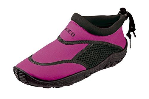 BECO Kinder Surf und Badeschuhe, Mehrfarbig (Pink/Schwarz), 28