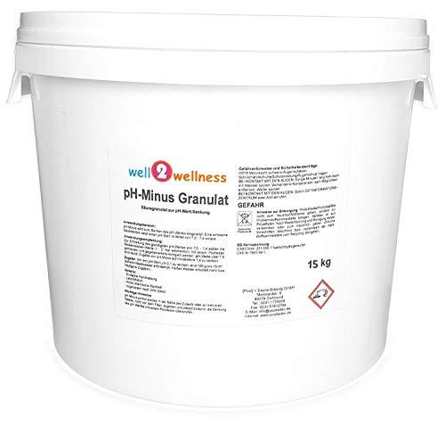 well2wellness pH Minus Granulat pH Senker Granulat für Pool + Spa 15 kg