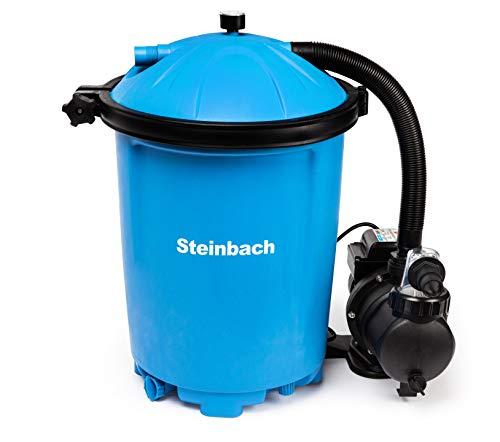 Steinbach Filteranlage Active Balls 75, Umwälzleistung 6,5 m³/h, 230 V/550 W, Anschluss Ø 32/38 mm, integrierter Timer, inkl. 1.150 g Filter Balls, 040120