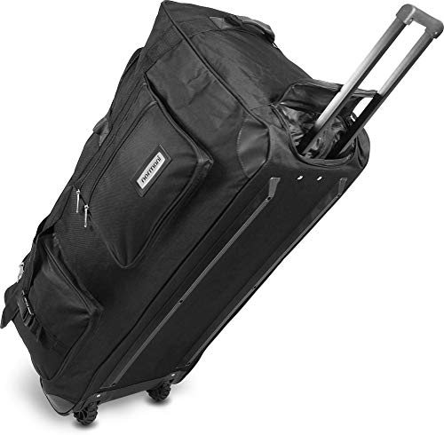 normani Reisetasche Jumbo Big-Travel mit Rollen riesige XXL V4 5. Generation Schwarz / 80 Liter