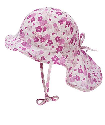 Döll Baby-Mädchen Nackenschutz Sonnenhut, Rosa (Fuchsia Pink Pink 2023), (Herstellergröße: 47)