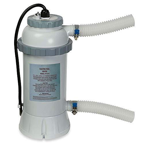Intex Heater - Poolheizung - Ø 25 x 45 cm - Für runde Easy Set und Kunststoff Frame Pool - Bis zu Ø 457 cm
