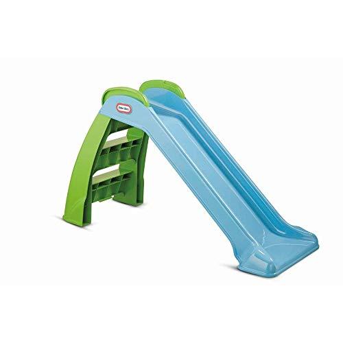 Little Tikes First Slide - Spielset für Drinnen und Draußen - Gartenspielzeug und Outdoor Aktivität für Kinder, haltbar, stabil und kindersicher - Gartenspielzeug in Blau und Grün. Ab 18 Monaten