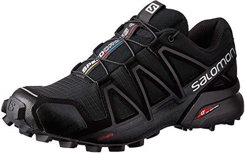 Salomon Damen Speedcross 4 W Traillaufschuhe, Schwarz Black Black Black Metallic, 40 EU