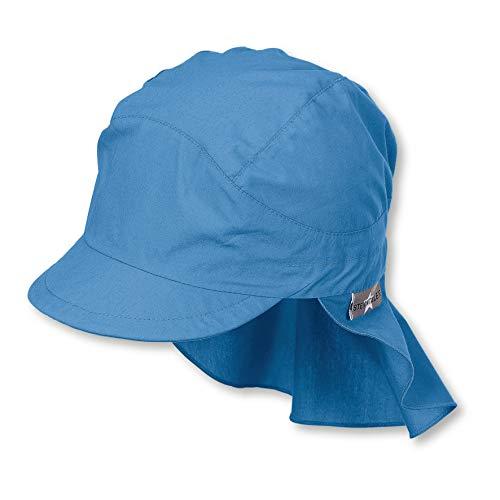 Sterntaler Schirmmütze für Jungen mit Nackenschutz, Alter: 12-18 Monate, Größe: 49, Samtblau