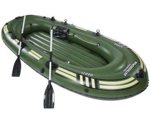 szfmmy Heavy Duty 300kg aufblasbares Floß Boot bootsklasse Angeln-Set 4Personen Kanu mit Paddel Wasser Sport (265cm x 130cm x 46cm)