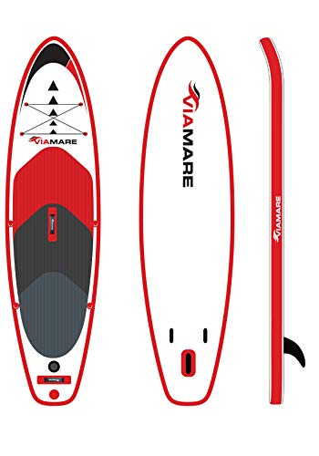 VIAMARE SUP Board Set 300 S rot mit Paddle