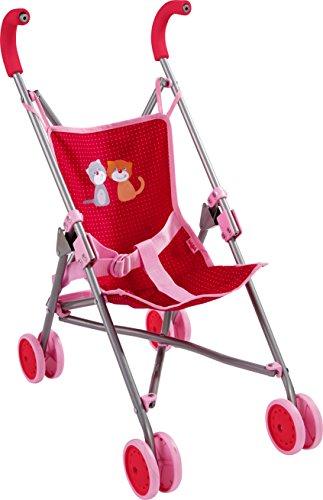 HABA 303815 - Puppenbuggy Jule   Handlicher Buggy mit Anschnallgurt   Lässt sich schnell zusammenklappen und platzsparend verstauen