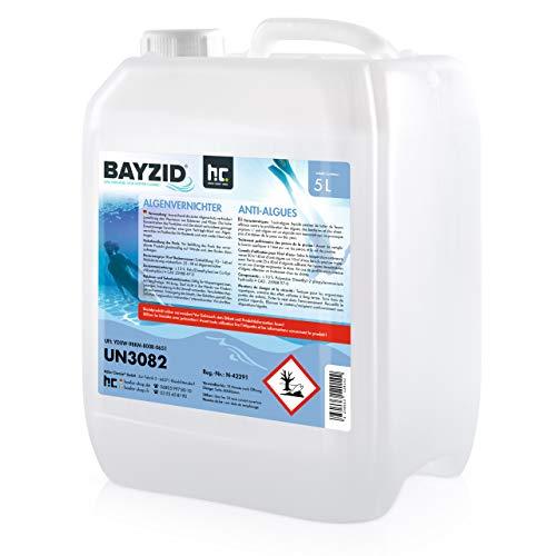 Höfer Chemie 5 L Pool Algenvernichter - Präventives Anti Algenmittel für Schwimmbad & Pool - gegen Algen