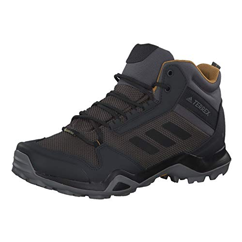 adidas Mens TERREX AX3 Mid GTX Walking Shoe, Grey/Core Black/Mesa, 42 2/3 EU