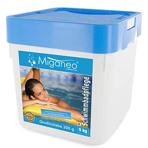 Miganeo 5Kg Multitabs 200g 5in1 Chlor-tabs Quattrotabs für Pool Ph Alegezid (5 kg)