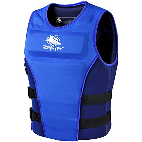 Zeraty Unisex Feststoff Schwimmweste CE ISO 12402-5-zertifiziert für Erwachsener 50N Schwarz