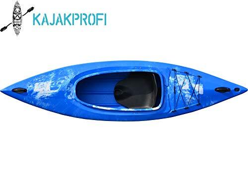 Kaitts Kajak Thunder Wanderkajak Freizeitkajak Angelboot Kajak Tourenkajak Paddelboot, Farbe:Blau-Weiß-Marmoriert