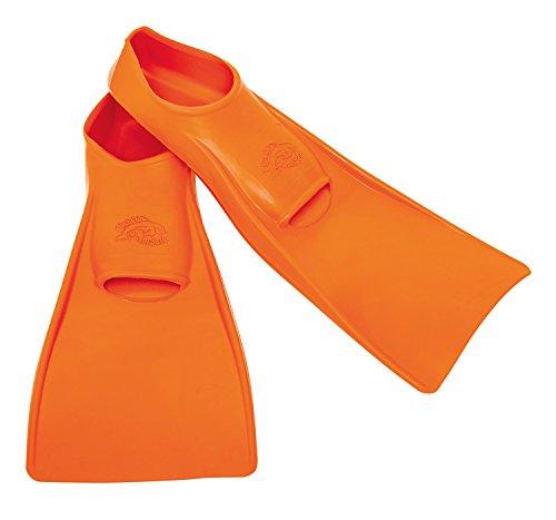 Flipper SwimSafe 1110 - Schwimmflossen für Kinder und Kleinkinder, in der Farbe orange, Größe 24 – 26, aus Naturkautschuk, als Schwimmhilfe für unbeschwerten Schwimm- und Badespaß