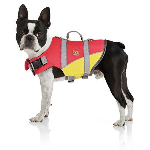 Bella & Balu Schwimmweste für Hunde – Reflektierende Hundeschwimmweste für maximale Sicherheit im und am Wasser beim Schwimmen, Segeln, Surfen, SUP, Kayak & Kanu Fahren und bei Bootsausflügen (Gr. S)