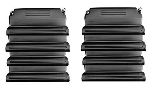 well2wellness Hochwertiges Pool Eisdruckpolster Set - 8 Stück mit Sand beschwert + Verbindungshaken