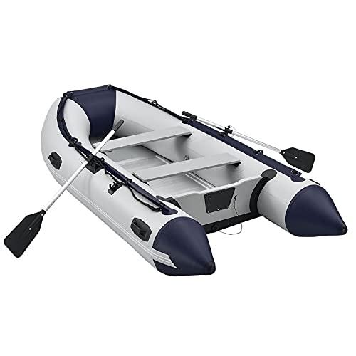 ArtSport Schlauchboot 3,20 m für 4 Personen mit Sitzbank & Aluboden – Paddelboot mit Paddel, Pumpe, Tasche & Reparaturset – PVC Angelboot aufblasbar